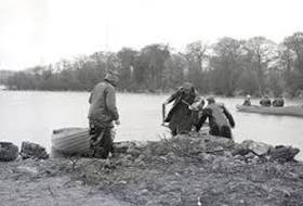 National Fly Fishing on Lough Sheelin April 1958 courtesy anglo celt
